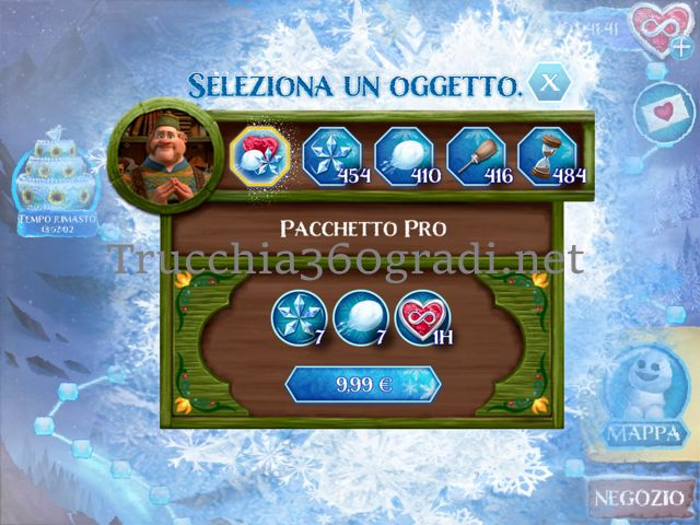 Trucchi Frozen Lampi di Gemme ios android
