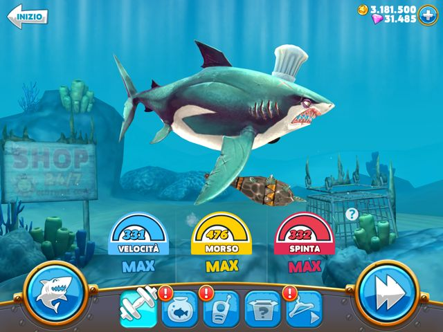 Trucchi Hungry Shark World gemme gratis oro infinito
